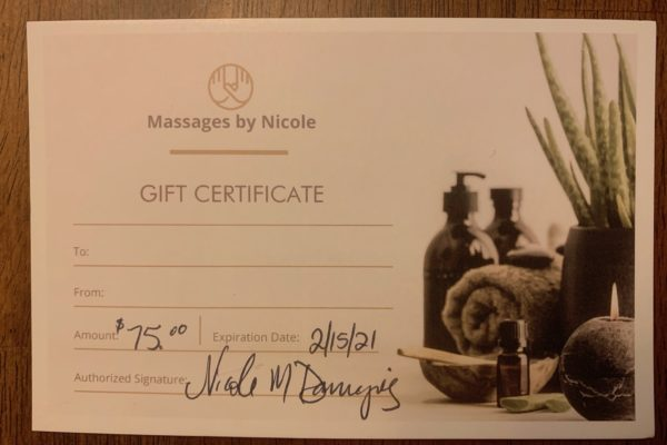 Massages by Nicole: Two $55 and one $75 certificate (in Kansas City)