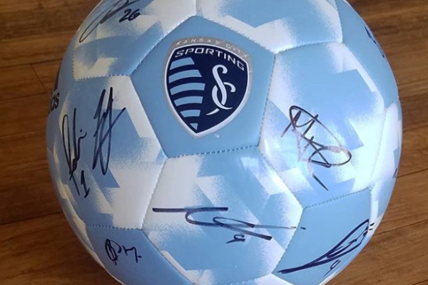 SportingKC Signed Soccer Ball (and bag, scarf, and socks!)